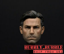 1/6 Ben Affleck Batman Bruce Wayne Head 2.0 For Hot Toys Phicen SHIP FROM USA