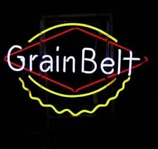 "New Grain Belt Open Beer Bar Neon Light Sign 24""x20"""