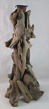 Natural Driftwood Candle Holder Rustic Wood Reclaimed Beach Cabin Home Decor