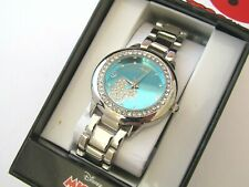 WOMEN'S MICKEY MOUSE CRYSTAL ACCENT BRACELET WATCH ACCUTIME MK2232 BLUE DIAL