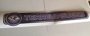 """Terrell Suggs FATHEAD Official Name Banner 37.5"""" x 6.5"""" Ravens NFL Wall Graphics"""