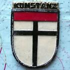 KONSTANZ German Navy Ship Metal Tampion Plaque Crest