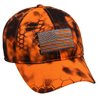 Kryptek Inferno USA Flag Hat Outdoor Cap New With Tags Unstructured Low Profile