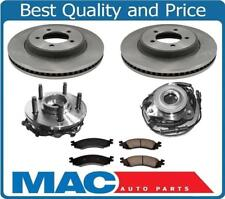100% New For 06-10 Ford Explorer Frt Wheel Hub Bearing Hubs Rotors Ceramic Pads