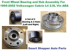 Front Wheel Bearing and Hub For 1995-2002 Volkswagen Cabrio L4 2.0L ABA-Pair