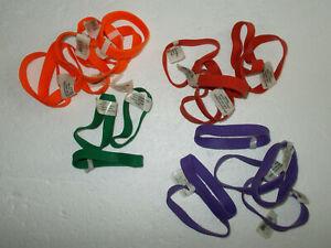 I LOVE SOCCER Rubber Bracelet Lot Of 22 Assorted Colors Party Bag Fillers