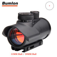 1 x 30mm Red Dot Sight Holographic Rifle Scope 11mm 20mm Rail Mount for Hunting