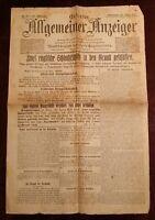 Erfurter Allgemeiner Indicador 20. März 1915 Histórico Periódico 1. Weltkrieg