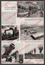 """Reichspost Fernsehen Luftpost Deruluft Ju 52 """"Flamingo"""" ФЛАМИНГО Königsberg 1936"""