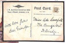 """BE33 1906 go autrichien exposition cendrillon """"fun"""" timbre acceptés pour l'affranchissement"""