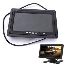 MONITOR LCD 7'' POLLICI 2 INGRESSI VIDEO TFT POGGIATESTA AUTO RETROMARCIA STAFFA