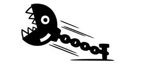 Mario Bros Chain Chomp Decal