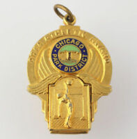 Area Athletic Award Medal - Chicago Park District Basketball Junior Charm