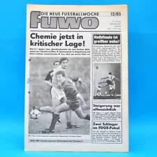 DDR FUWO Fussballwoche 12/1985 Hansa-Lok 3:1 Erfurt Dresden 3:3 FCM-BFC 2:2 B