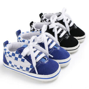 Soft Sole Newborn Baby Boy Pram Shoes Toddler Pre Walking Trainers Sports Shoes