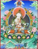 "Thangka Dorje Sempa Vajrasattva  ""Kunstdruck"" Buddha Meditation Nepal T13"