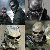 Tactical Airsoft Paintball Full Face Protection Skull Mask Halloween Game