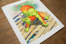 Blanka. Street Fighter™. Official Capcom Signed & Numbered Ltd. Edition Print
