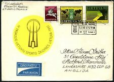 Lithuania 1991, 4th Worth Lithuanians Games FDC To England #C45046