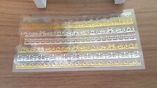FANCY EDGING strips for dolls house decoration furniture frames stickers