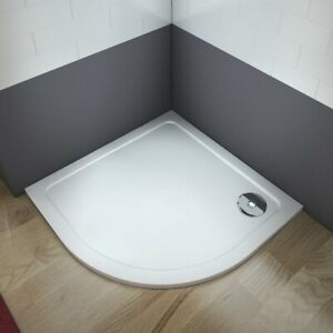 Quadrant Stone Resin Tray+Waste 30 mm Height  For Shower Enclosure Doors Cubicle