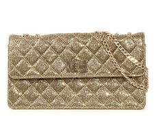 CHANEL Gold Crystal Flap Bag ~ Small, structured and fabulous night or day!