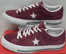 de4aff8d141b2 New Mens 11 Converse One Star Suede OX Deep Bordeaux Suede Leather  90  158370C