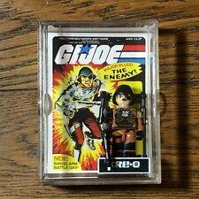 GIJOE GI Joe KRE-O MAJOR BLUDD KREO  COBRA ENEMY OFFICER Mini Figure With Case