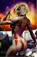 2014 SDCC ATTACK ON TITAN ART PRINT 2 BY GREG HORN SIGNED 11x17