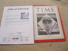 Joe DiMaggio Autographed 8 x 11 Time Magazine Photo Cover PSA Cert