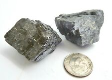 Natural Galena Crystal Specimens Mexico 118 grams 2 piece lot