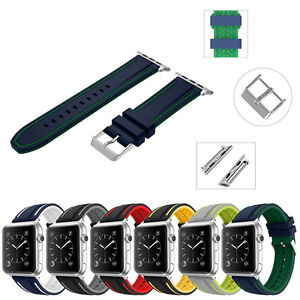 Soft Silicon Replacement Sport Watch Strap Band for Apple Watch Series 6 5 4 3 2