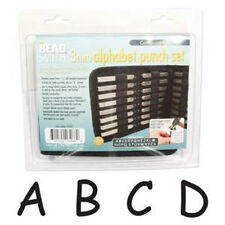 Beadsmith 3mm Comic Uppercase Alphabet Punch Set with Case