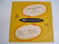 "ANTON KARAS - ZITHER MUSIC - RARE DECCA 10"" LP"