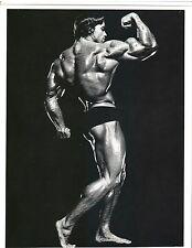 Arnold Schwarzenegger Bodybuilding  Back Pose Muscle Photo B&W