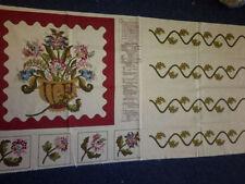 Jacobean Floral Cotton Fabric Quilting Panel - Benartex