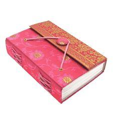 Fair Trade Handmade Pink Medium Sari Journal Notebook