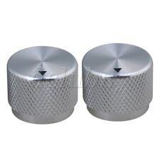 2pcs Silver Aluminum Potentiometer Volume Tone Knobs for Electric Guitar