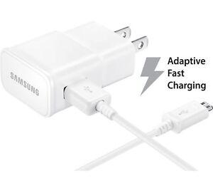 Original Adaptive Fast Micro USB Wall Charger for LG Samsung Motorola HTC White