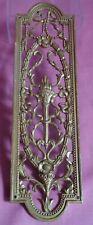 Brass Gilded Ornate Finger Plate 1900s