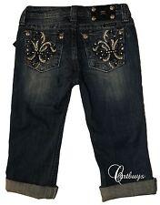 New Girls Miss Me Jeans Rolled Capri JK6073P Sz16 MSRP $86