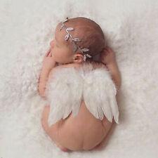 Baby Engel Flügel + Stirnband Fotoshooting Neugeborenen Neu Fotografie G8M3