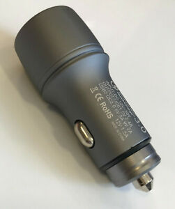 Metall Auto Ladegerät USB Auto Adapter 12V/24V KFZ Ladegerät 2 port 2,4 A+3,0A