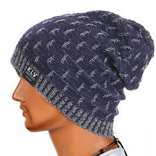 Men Women Warm Crochet Winter Wool Knit Ski Beanie Skull Slouchy Caps Hat