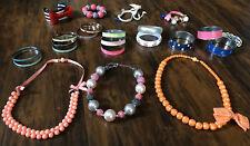 Gymboree Jewelry Lot 20 Bracelets 3 Neclaces Girls 3t/4t/5t/6/7/8y