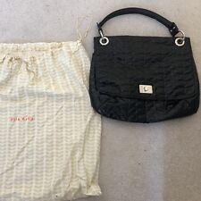 Orla Kiely Large Black Patent Handbag