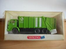 Wiking Mercedes Garbage Truck in Green on 1:87 in Box
