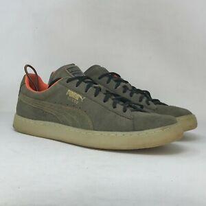 Puma Mens Epic Remix 366199-01 Gray Suede Sneaker Shoes Lace Up Low Top Size 12