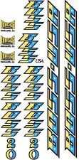 BOSS Racing Products BMX - BOSS 20 Yellow / Light Blue / Black Bike DECAL SET