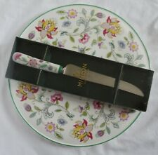 MINTON Green HADDON HALL  Cake Dessert Serving Plate with Knife